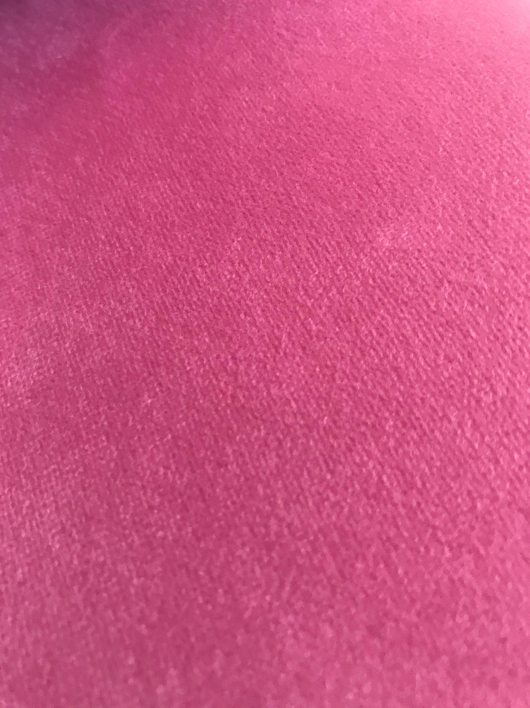 Velvet Upholstery Fabric In Fuchsia Pink Candy Pink Velvet Width