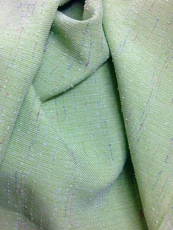 """Pistachio Green Twill Fabric, Width 57"""", Material Sold By the Yard, Tweed Fabric"""