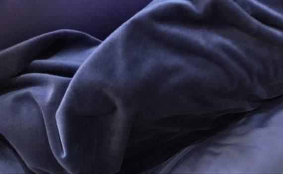 OFFER FABRICS! Velvet Dark Blue Fabric, Soft Velvet