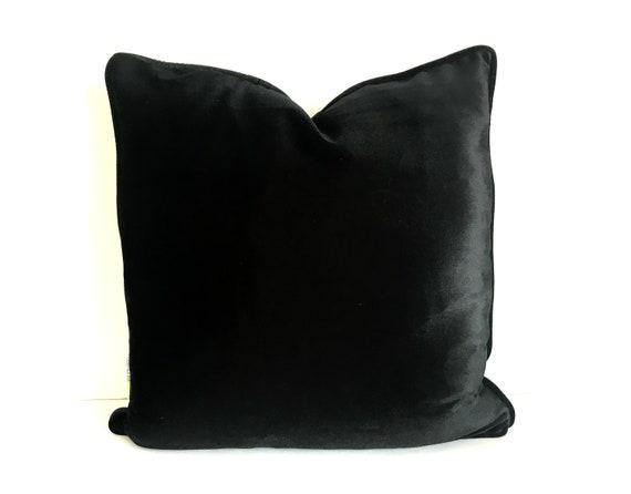 Black Velvet Pillow Cover, Velvet Cushion Cover