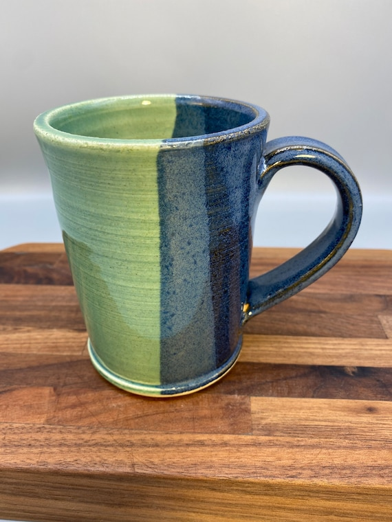 Blue green mug vertical