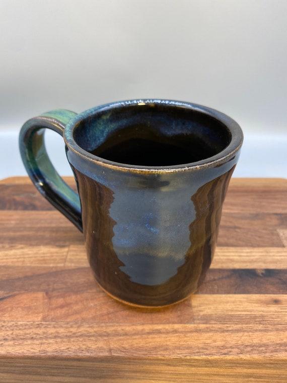 Black and green mug