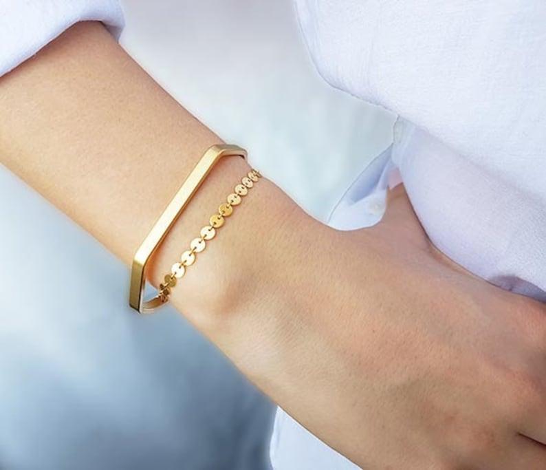 528e466246ac Gold Cuff Bracelet Cuff Bracelets Set Unique Gifts for
