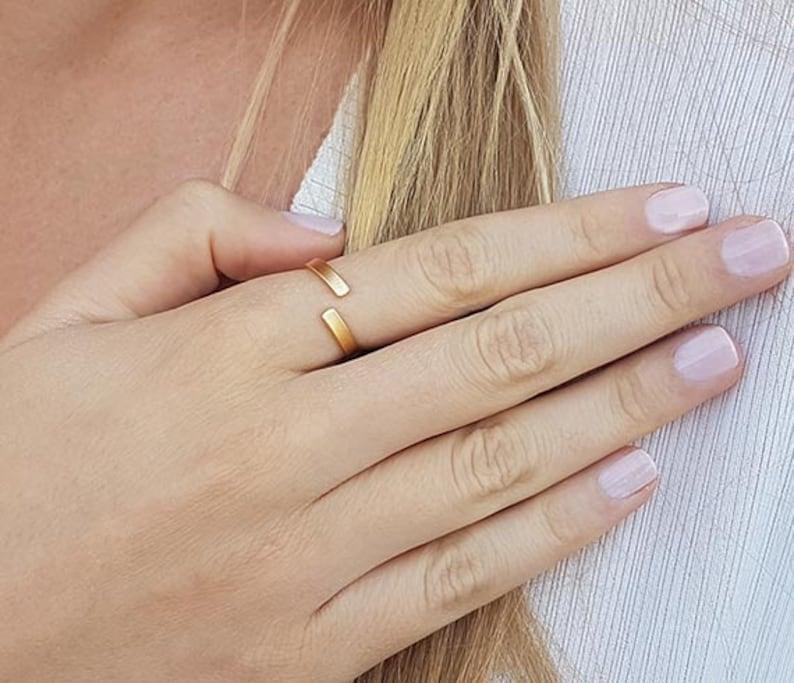 Hug Ring Cuff Ring Minimalist Ring Gold Wrap Ring Gift Ideas Skinny Ring Unique Thin Ring Dainty Ring Tiny Open Ring Gold Bar Ring