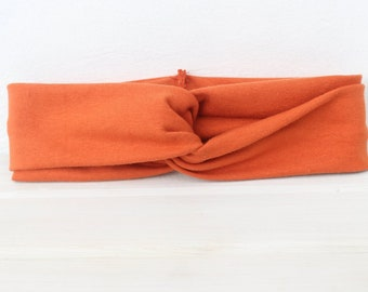 Orange Baby Turban, Baby Turban, Baby Headband, Newborn Headband, Infant Headband, Baby Girl Headband, Baby Head Wrap, Toddler Headband