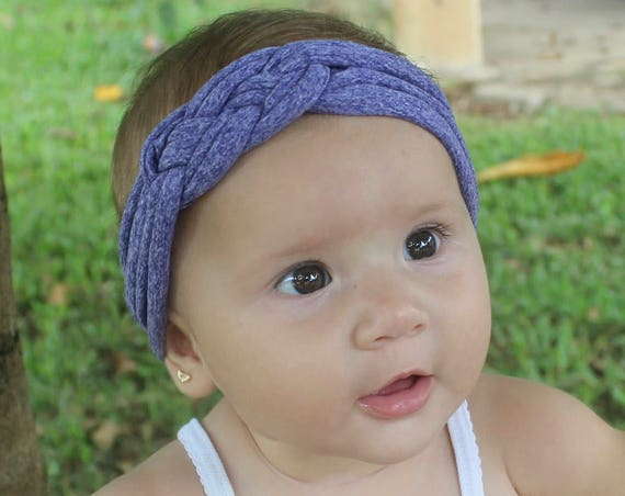 Baby headband, Purple Headband, Knotted Headband, Newborn Headband, Toddler headband, Baby shower gift, knot headband adult, Purple Headband