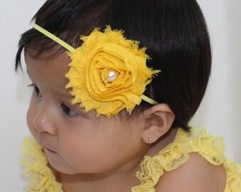Yellow Headband Baby, yellow headband women, Baby Headband, Infant Headbands, Headband For Girls, Flower Headband, Toddler Headband