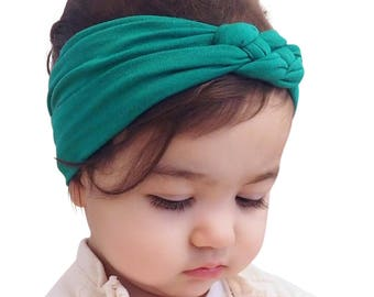 Knot Headband, Jade Headband, Baby HeadWrap, Jade Turban, Celtic Knot Headband, Sailor's Knot, Hair Wrap, Baby Headband, Baby Head Wrap