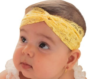 yellow headband, baby headband, newborn headband, baby girl headband, infant headband, toddler headband, yellow headbands, girls headband