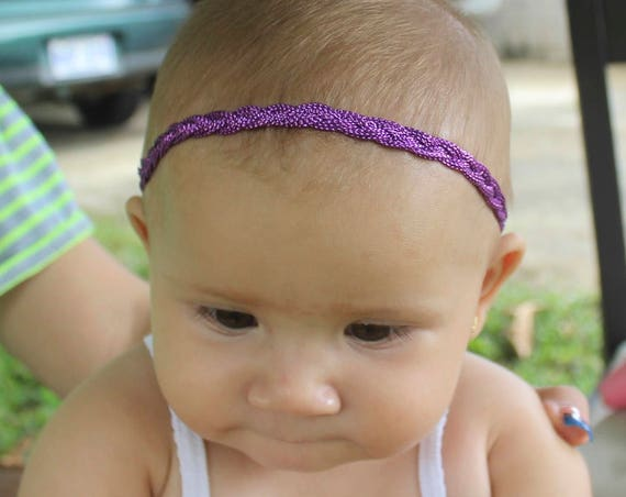 Purple Headband, Purple Headband Baby,  Braided Headband, Halo Headband, Toddler Headband, Infant Headband, Baby Headband, Handmade Headband