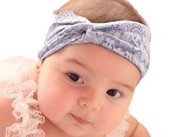 Baby Headband - Blue Headband - Baby Turban Headband - Baby Girl Headwrap - Baby Headwrap - Toddler Headband - Turban Headband