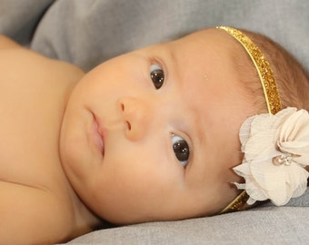 Baby Flower headband, baby headband, newborn headband, baby girl headband, infant headband, baby flower headband