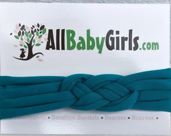 Knot Headband, Teal Green Headband, Baby HeadWrap, Green Turban, Celtic Knot Headband, Sailor Knot, Hair Wrap, Baby Headband, Baby Head Wrap