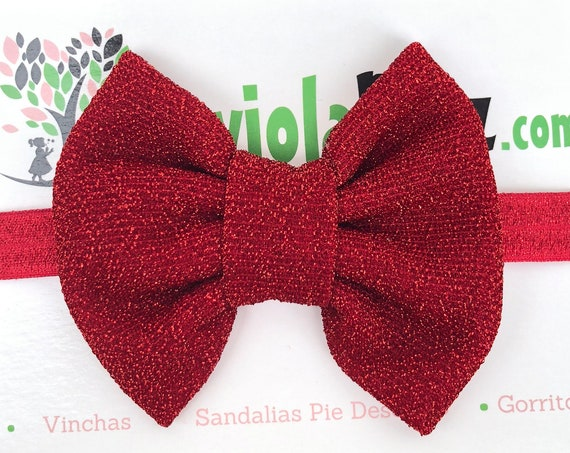 Christmas Headband, Red Baby Bow, Baby Headband Bow,Baby Headband, Newborn Headband, Infant Headband, Baby Girl Headband, Toddler Headband