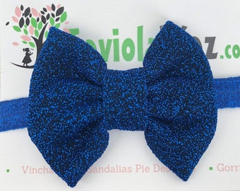 Blue Baby Bow, Baby Headband Bow, Baby Headband, Newborn Headband, Infant Headband, Baby Girl Headband, Baby Head Wrap, Toddler Headband