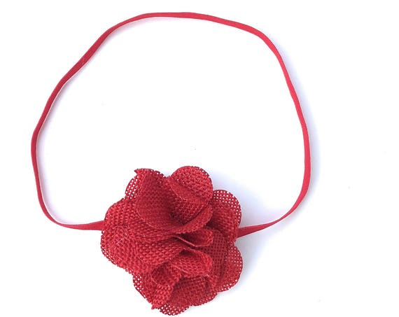 Red Headband, Newborn Headbands, Easter Headband, Flower Headband, Baby Headband Baby, Headbands, Newborn Headband
