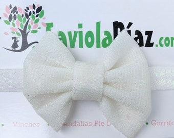 White Baby Bow, Baby Headband Bow, Baby Headband, Newborn Headband, Infant Headband, Baby Girl Headband, Baby Head Wrap, Toddler Headband
