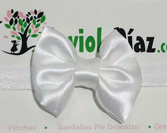 Baby Headband Bow, White Bow Headband, Baby Headband, Newborn Headband, Infant Headband, Baby Girl Headband, Baby Head Wrap Toddler Headband