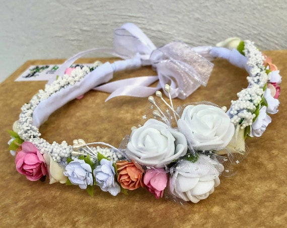Flower Crown, Newborn Crown, Infant Flower Crown, Baby Flower Crown, Newborn Flower Crown, Flower Girl Crown, Flower Headband, Flower Girl