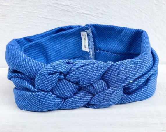 Knot Headband, Blue Headband, HeadWrap, Baby HeadWrap, Blue Turban, Celtic Knot Headband, Hair Wrap, Baby Headband, Baby Head Wrap