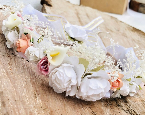 Flower Crown, Newborn Crown, Infant Flower Crown, Baby Flower Crown, Newborn Flower Crown, Flower Girl Crown Flower Headband Infant Headband