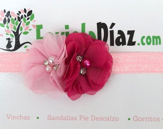 Hot Pink Headband, Flower Headband, Baby Headband, Newborn Headband, Infant Headband, Baby Girl Headband, Baby Head Wrap, Toddler Headband