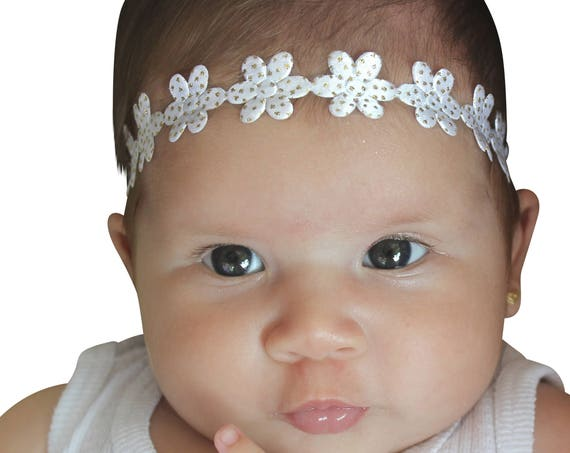 Baby Headband, Baby Girl Headband, Gold Headband, baby head wraps, baby headband, baby Headbands, baby girl, newborn headband