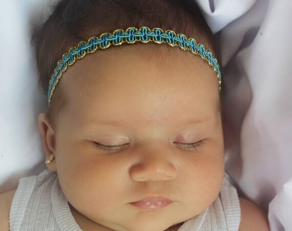 Blue Headband, Infant Headbands, Halo Headband, Headband for Newborn, Perfect for Newborn, Infant Headbands, Baby Girl Gift