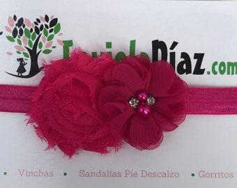 Fuchsia Flower Headband, Newborn Headband, Infant Flower Headband, Baby Flower Headband, Newborn Flower Headband, Flower Headband, Fuchsia