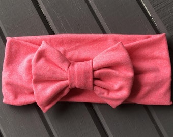 Pink Bow Headband, Baby Headband Bow, Baby Turban Headband, Toddler Head Wrap, Baby Turban, Baby Headband, Newborn Headband, Infant Headband
