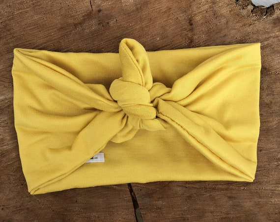 Baby Head Wrap, Baby Turban, Yellow Knot Headband, Baby Headwrap, Baby Headband, Head Wrap, Baby Turban Headband, Hair Wrap, Knot Headband