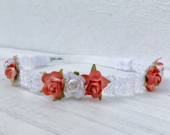 White Baby Headband, Pearl Baby Headband, Flower Headband, Infant Headbands, Baby Headband, Newborn Headband, Headbands For Babies, Baby