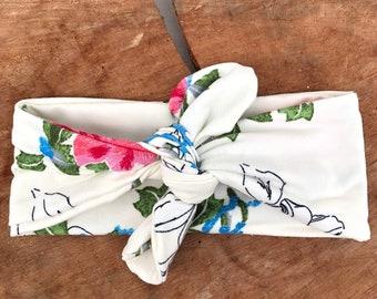 Baby Knot Headband, Floral Knot Headband, Baby Headband, Floral Turban, Turban Headband, Baby Headwrap, Newborn Headband, Fabric headwrap