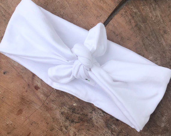 White Turban, Baby Turban Headband, Toddler Head Wrap, Baby Turban, Lace Baby Headband, Turban Baby Headband, Baby Head Wrap Turban Headband