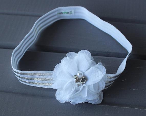 Flower Headband baby, Flower Headband, White Flower Headband, Floral Headband, Floral Headband Baby, Baby Flower, Floral Baby Headband