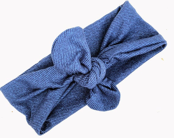 Blue Headwrap, Headwrap Baby, Newborn Headwrap, Celtic, Head Wrap For Baby, Infant Head Wrap, Turban Headband Baby, Sailor Knot Headband