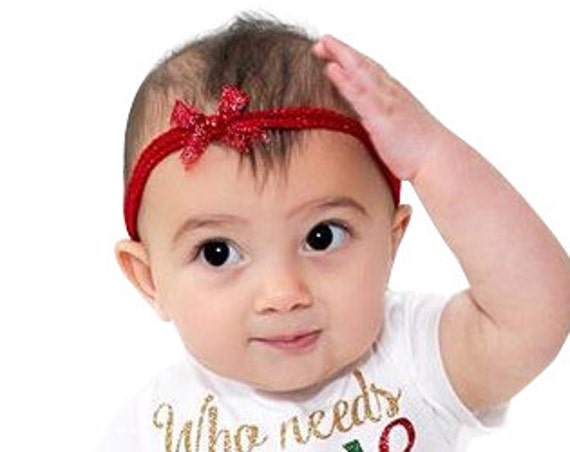 Red Headband Baby, Red Baby Headband, Baby Girl Headband, Baby Headband, Newborn Headband, Baby shower Gift, Baby Girl Infant Headband