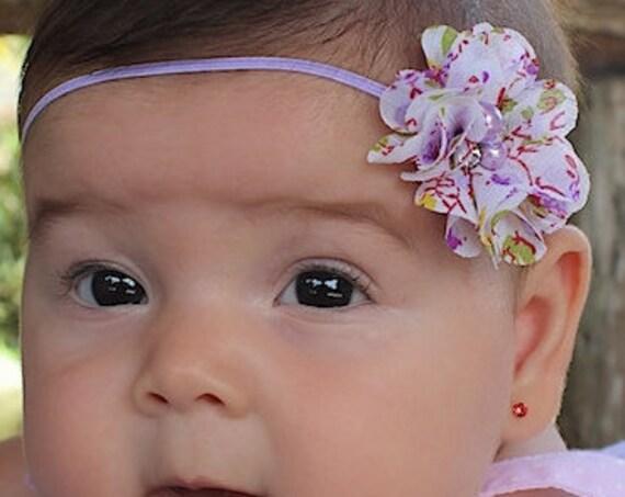 Lilac Headband, Baby Headband, Newborn Headband, Flower Headband, Soft Baby Headband, Headband for Babies, Purple Headband, Hair Accessories