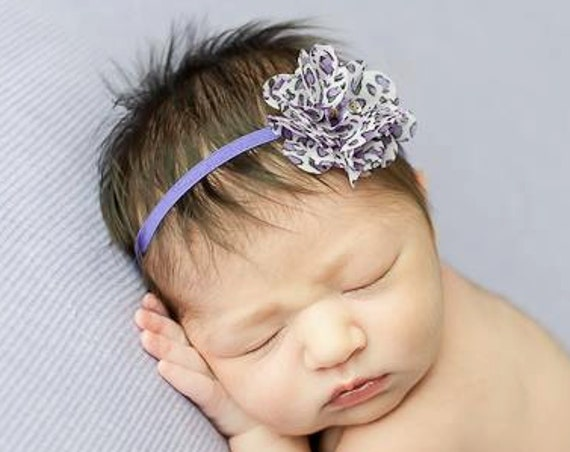 Baby Headband, Infant Headband, Flower Headband, Purple Headbands, Headband For Newborn, Infant Headbands, Newborn Headband Fall Headband