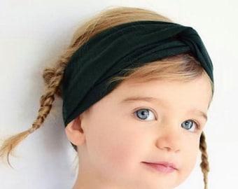 Baby Headband, Baby Turban Headband, Baby Girl headband, Baby Girl Headwrap, Baby girl, Turban Baby, Turban for Babies, Green Headband