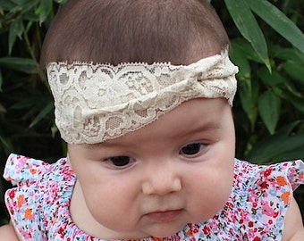 Baby Girl Turban, Toddler Headband, Tan Headwrap, Girls Turban, Toddler Turban, Baby Turban, Newborn Headwrap, Women's Turband