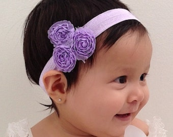 Purple Baby Headband, Baby Headband, Baby Headpiece, Purple Headband, Infant Headbands, Newborn Headband, Flower Headband, Toddler Headband