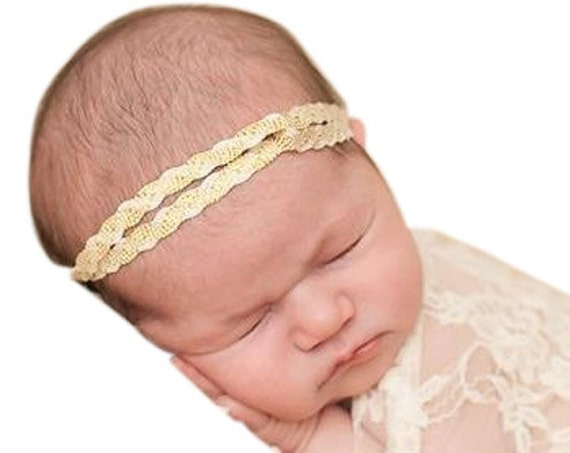 Baby Headband, Turban Gold Headband, Gold Baby Headband, Turban Headband, Infant Headbands, Baby Headband, Infant Headband, Newborn Headband