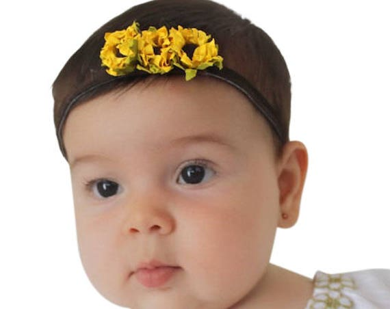 Sunflower Headpiece, Baby Headband, Sunflower Headband, Newborn Headband, Headband for Girls, Toddler Headband, Newborn Girl Gifts