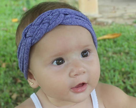 Purple headband, Baby headwrap, Knotted Headband, Newborn Headband, Toddler headband, Baby shower gift, knot headband adult, Purple Headband