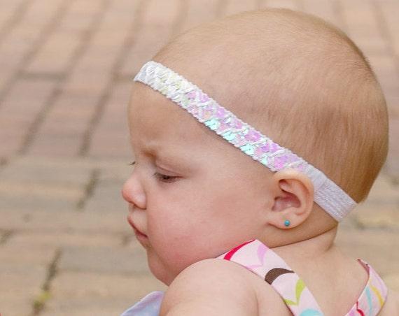Baptism Headband, Baby Headband, White Headband, Halo Headband, Christening Headband, Baby Accessories, Hair Accessories, Infant Headbands