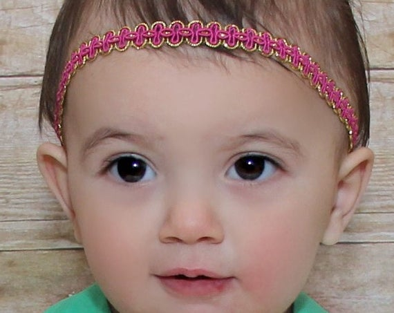 Pink Baby Headband, Pink Headband, Headband for Newborn, Perfect for Newborn, Infant Headbands, Pink Headpiece