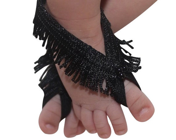 Black HeadbandBarefoot Baby Sandals, Black Sandals, Black Barefoot Sandals, Barefoot Baby Sandals, Baby Barefoot Sandals, Baby Accessories