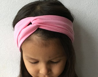 Pink Turban Headband, Baby Headbands, Pink Headband, Newborn Turban, Infant Headband, Infant Headbands, Toddler Headband
