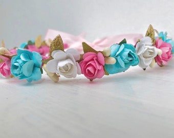 Flower Crown, Newborn Crown, Infant Flower Crown, Baby Flower Crown, Baby Headband, Newborn Headband, Infant Headband, Baby Girl Headband